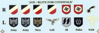German WW2 helmet markings